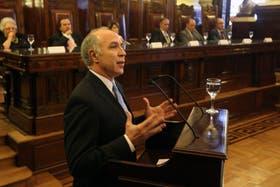 El presidente de la Corte, Ricardo Lorenzetti, tuvo un fuerte discurso político.