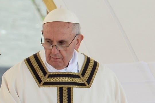 Francisco pidió no tener miedo a la bondad y a la ternura. Foto: AFP