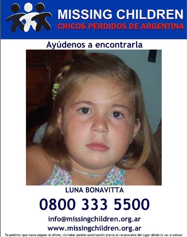 Luna Bonavitta se encuentra perdida junto a su madre, Daniela Morrone