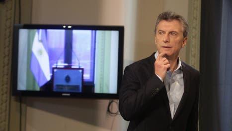 Macri al ingresar ayer a la conferencia de prensa en la que habló de la polémica iniciativa