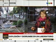 Explosión y derrumbe en Rosario