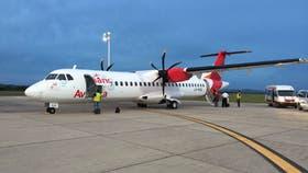 Avianca prepara su primer avión para volar en la Argentina.