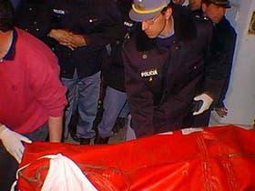 El cadáver de Yabrán llegó a la morgue del cementerio de Gualeguaychú alrededor de las 21