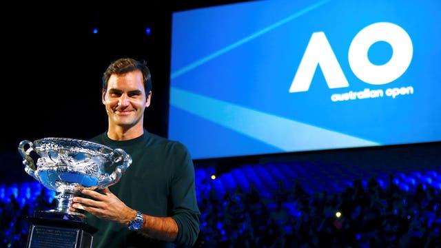 Federer, campeón vigente del Abierto de Australia