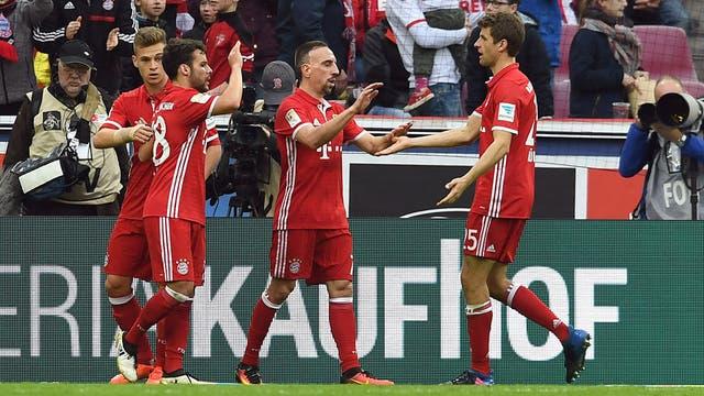 Bayern goleó a Colonia y sigue líder