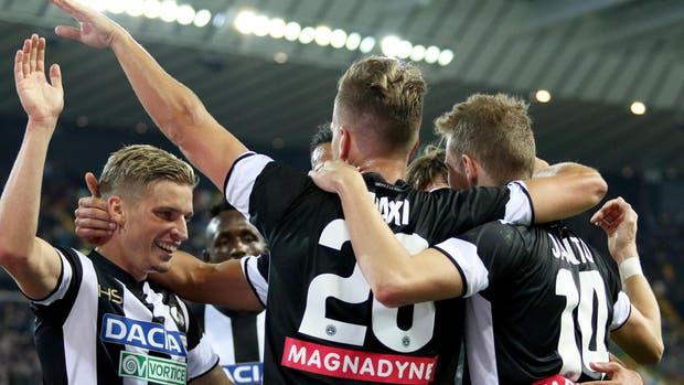 Maxi anotó por duplicado en la goleada de Udinese