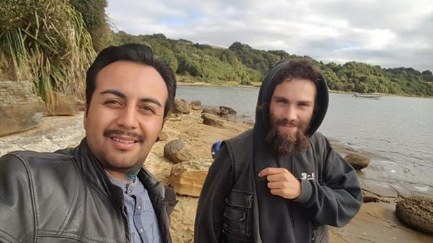 Las fotos de Santiago Maldonado en Chile, semanas antes de su desaparición. Foto: Facebook