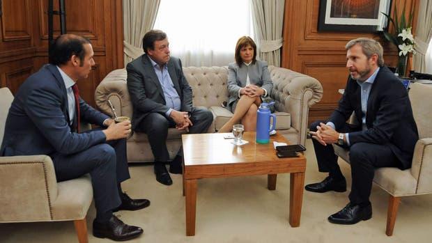Frigerio y Bullrich recibieron a tres gobernadores patagónicos