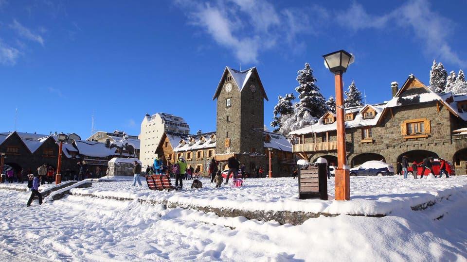 Bariloche recibió intensas nevadas. Foto: twitter