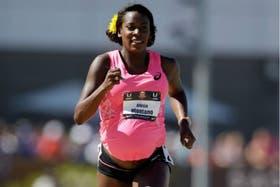 Alysia Montano corrió cuna prueba de 800 metros con 34 semanas de embarazo