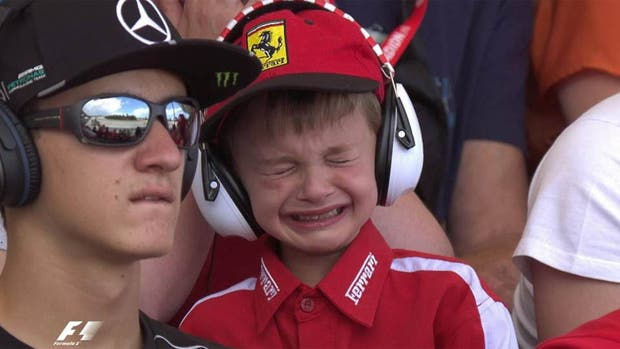 El pequeño Thomas Daniel, protagonista de la carrera de Fórmula 1 en España