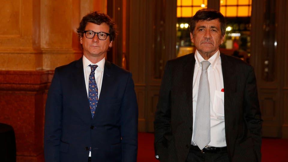 Gabriel Martino, CEO de HSBC Argentina, junto a Marcos Gastaldi. Foto: LA NACION / Fabián Marelli