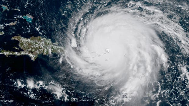 La imagen satelital del huracán Irma