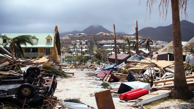 Los efectos devastadores de Irma en la isla Saint-Martin