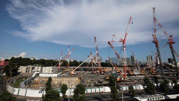 La construcción del estadio nacional de Tokio tiene una concepción antisísmica