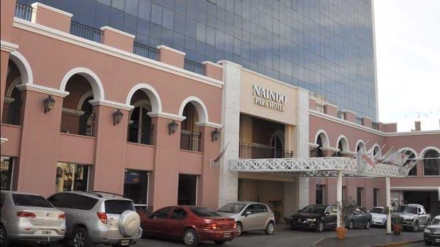 La fachada del Naindo Park Hotel, donde se hospedó Milani