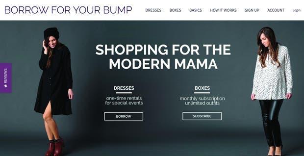 Borrow for your bump, una plataforma de alquiler de vestidos de fiesta para mujeres embarazadas.