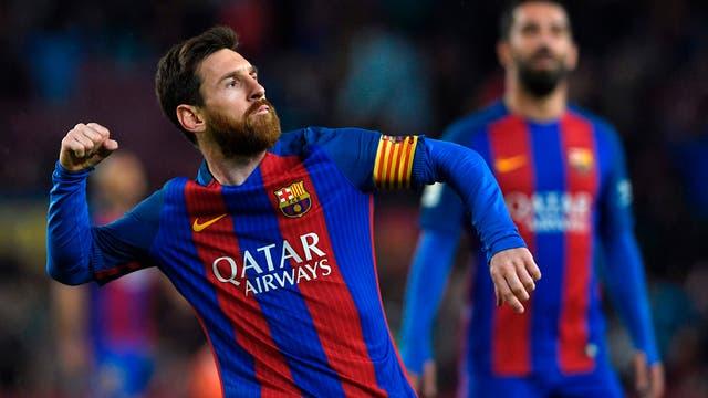 Messi y su festejo