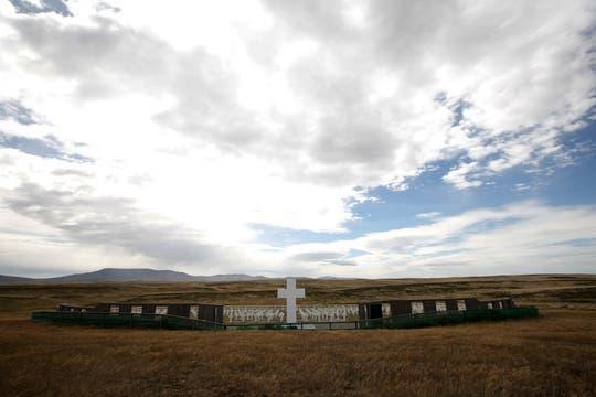 Cementerio de Darwin. Foto: LA NACION / Mauro V. Rizzi / Enviado especial