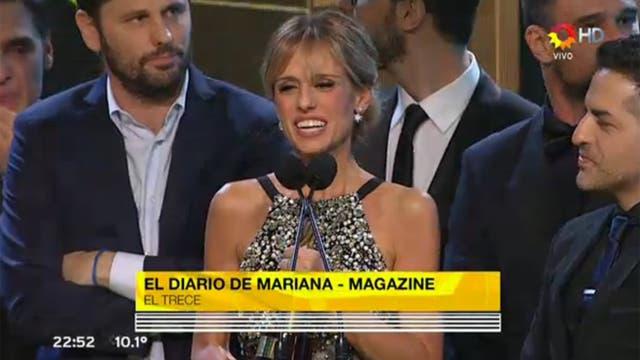 Fabbiani, feliz por el premio obtenido por El diario de Mariana