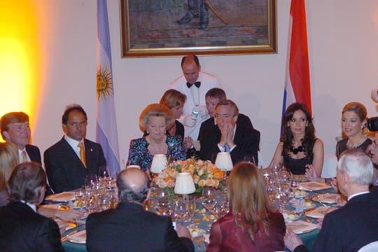 Los Kirchner agasajaron a la reina y los príncipes con una cena en el palacio San Martín. Foto: Archivo