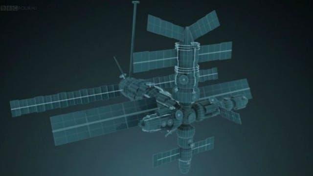 La primera estación espacial, la MIR