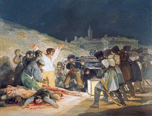 El 3 de mayo en Madrid o los fusilamientos (1814) Este monumental óleo registra el fusilamiento de españoles a manos del ejército francés y el comienzo de la guerra contra Napoleón. Fue restaurado en 2008.