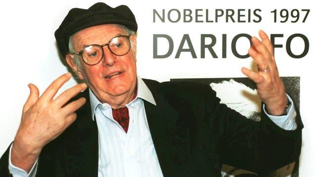 A los 90 años murió Dario Fo, premio Nobel de Literatura en 1997
