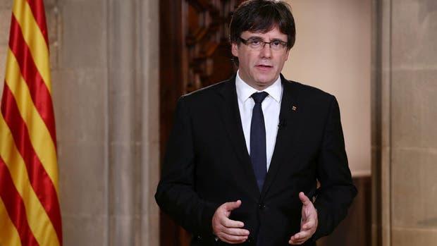 El presidente de la región autónoma de Cataluña, Carles Puigdemont