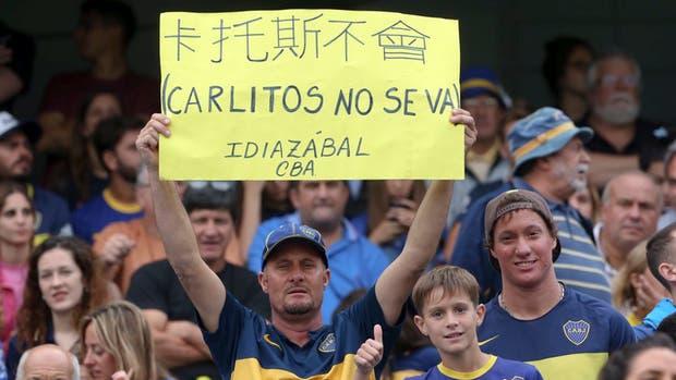 Los hinchas de Boca despides a Carlitos
