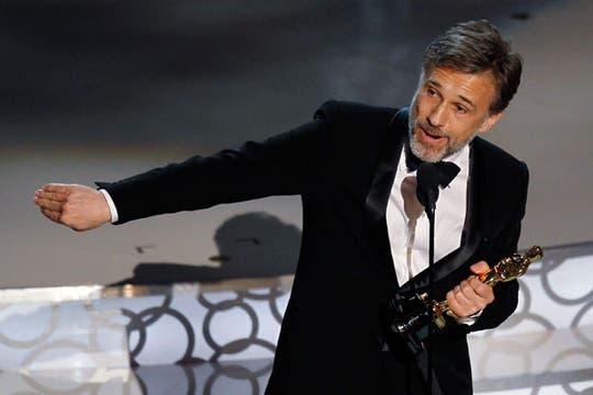 El austríaco Christoph Waltz, mejor actor de reparto (Bastardos sin gloria).. Foto: Reuters
