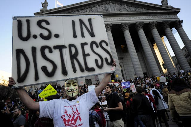 Integrantes del movimiento Occupy Wall Street