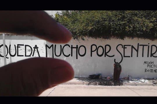 Acción Poética Río Cuarto. Foto: Facebook