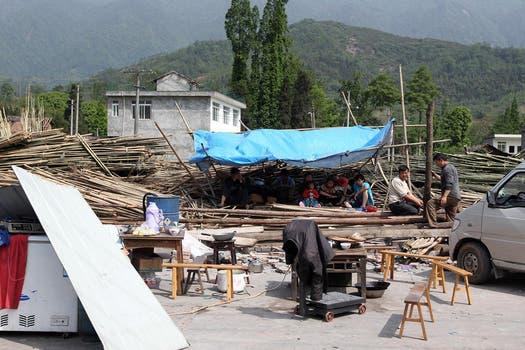 El terremoto fue en Lushan, cerca de la ciudad de Ya'an, a las 8 de la mañana, hora local.