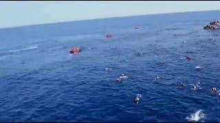 Dramático rescate de refugiados en el Mediterráneo