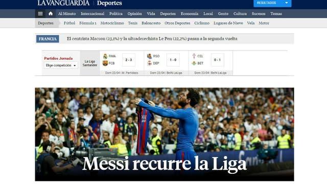 El diario La Vanguardia, de España. Foto: Archivo