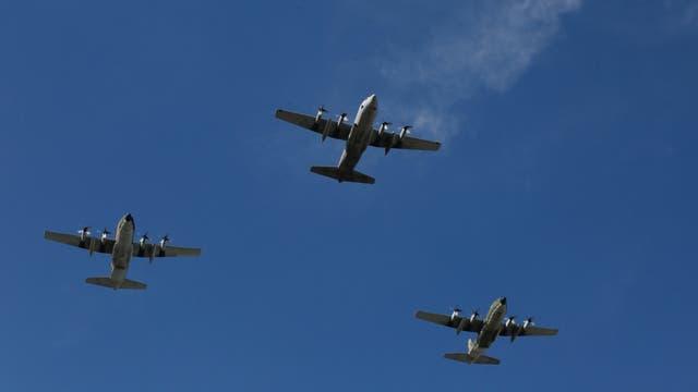 Los Pucará, Hércules y Skyhawk hicieron tronar el cielo del mediodía