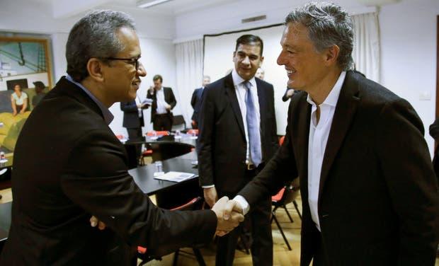 Cabrera saludó ayer a Luis Fernando Peláez Gamboa, presidente de Renault