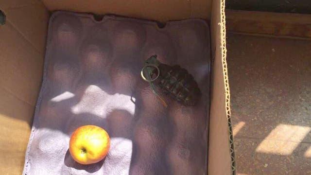 Una granada encontrada en el Colegio Nacional de Adrogue