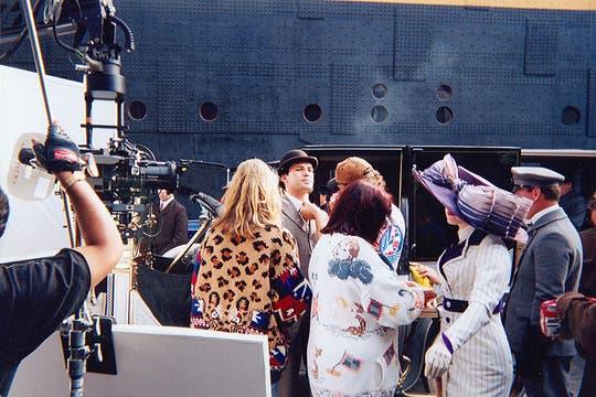 Kate Winslet y Billy Zane, antes de embarcar. Foto: Gentileza Luis Incisa