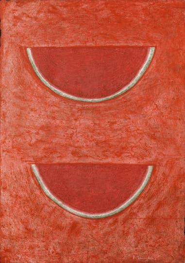 Sandías (1965), de Rufino Tamayo, una de las obras de la colección Sura exhibidas en Colección Fortabat
