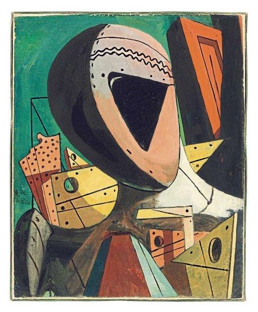 Cabeza de maniquí - Giorgio de Chirico, 1916-17