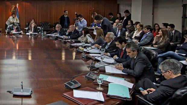 El Consejo de la Magistratura, durante una reunión con su composición actual