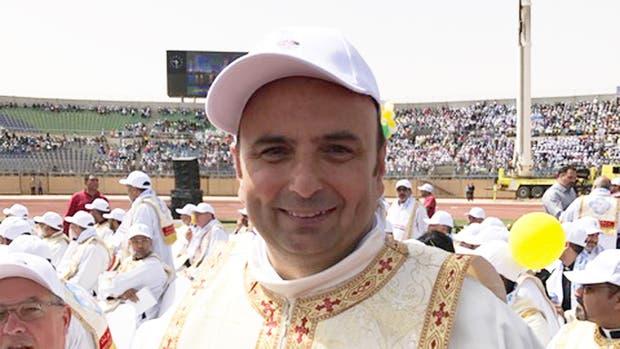 El padre Gabriel Romanelli es porteño pero vive desde hace 22 años en Medio Oriente; hoy estuvo en la misa del Papa
