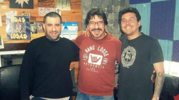 Maximiliano Djerfy, Juan Carbone y Elio Delgado