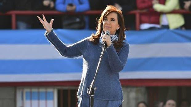 Cristina Kirchner en el lanzamiento de su espacio con un acto en Sarandí