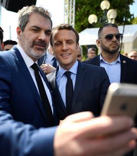 Macron, ayer, durante un acto de la comunidad armenia