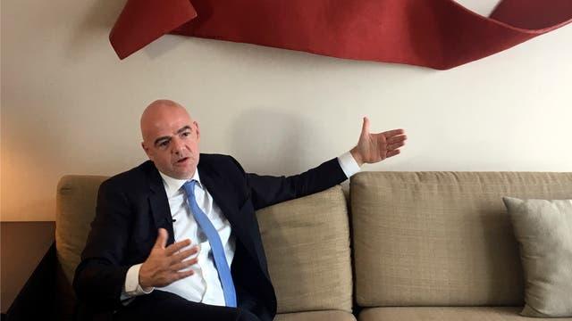 Gianni Infantino habló con La Nación durante su breve visita en la Argentina