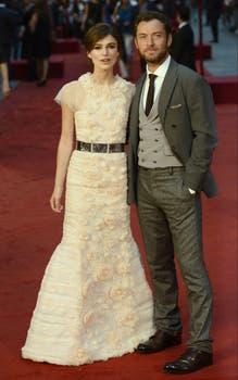 Keira y Jude, en la alfombra roja. Foto: EFE