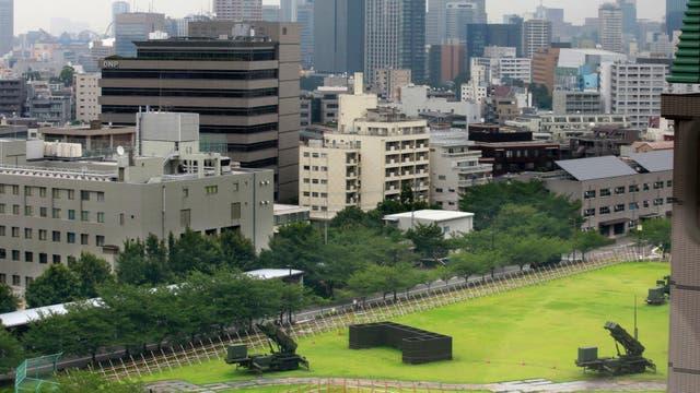 Misiles Patriot se despliegan en el complejo del Ministerio de Defensa en Tokio